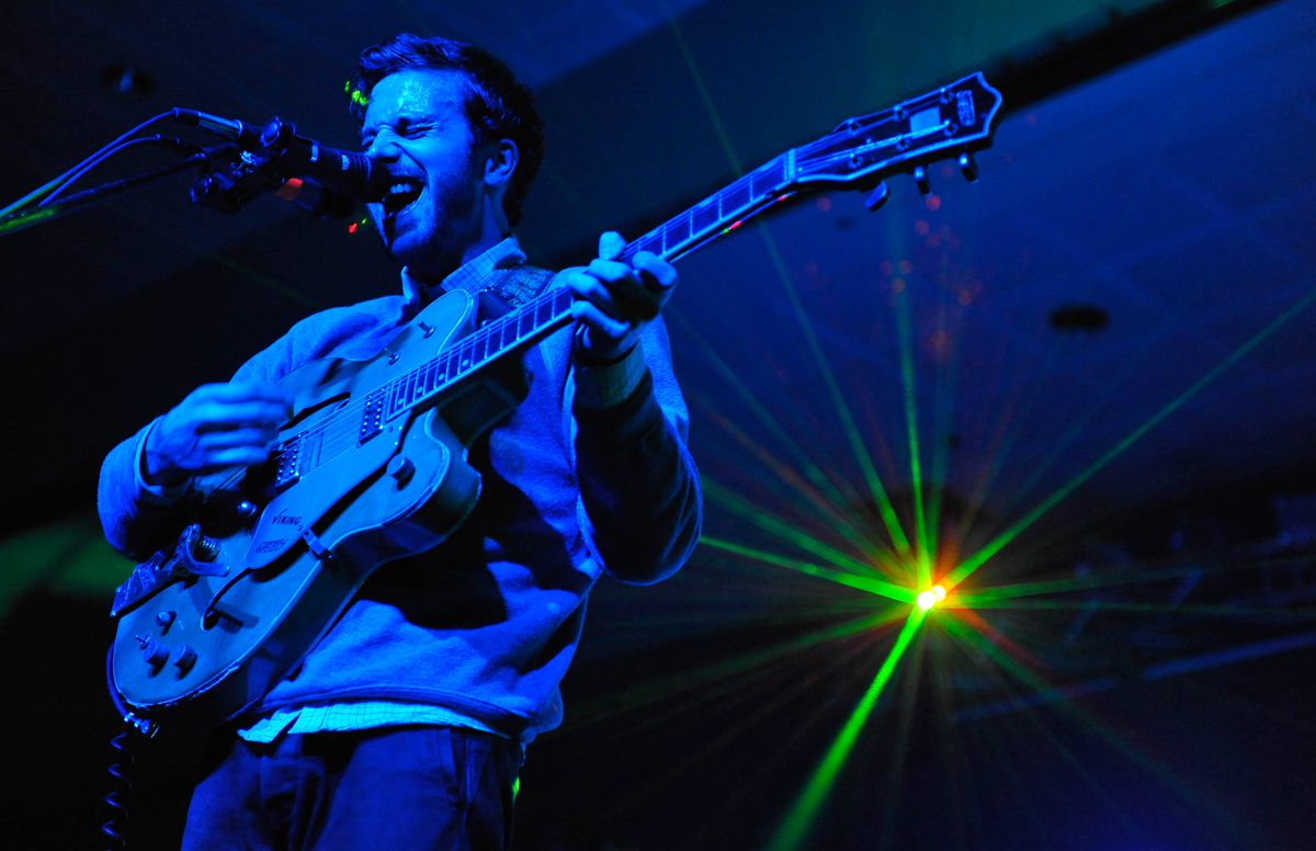 John Gourley of Portugal. The Man performed at the Egan Center in Anchorage on Friday, December 16, 2011. (Marc Lester / ADN Archive)