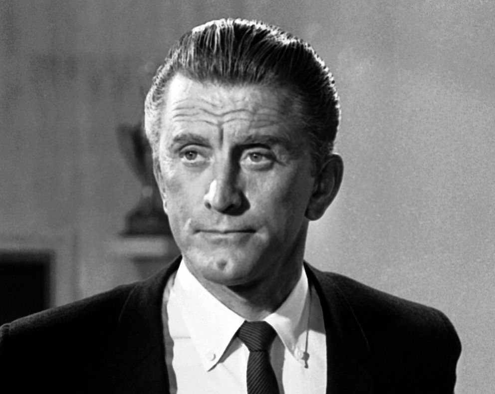 FILE - This Aug. 9, 1962 file photo shows actor Kirk Douglas in New York. Douglas died Wednesday, Feb. 5, 2020 at age 103. (AP Photo/DAB, File)