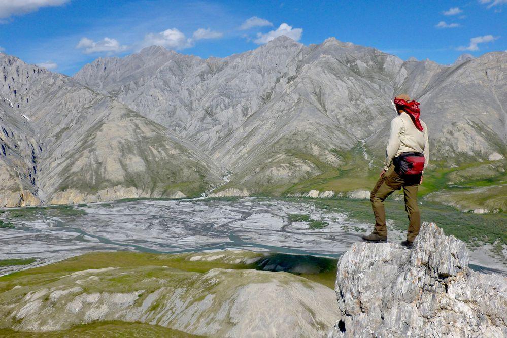 Michael Engelhard stands above the Ivishak River.(Michael Engelhard)