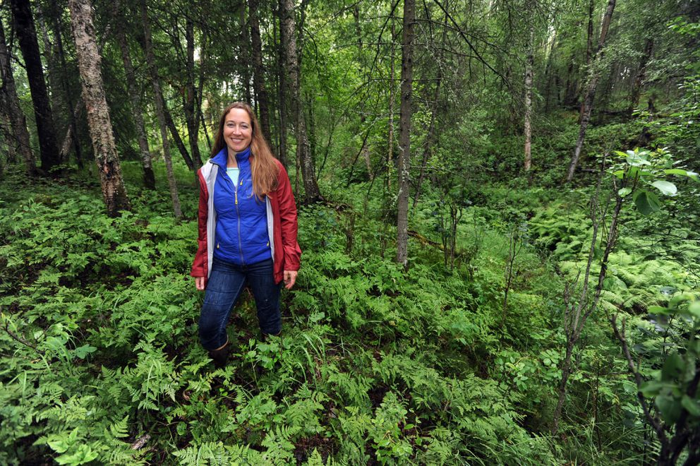 Kim Sollien is Mat-Su Program Director for Great Land Trust, which is working to create Settlers Bay Coastal Park in Mat-Su. (Erik Hill / Alaska Dispatch News)