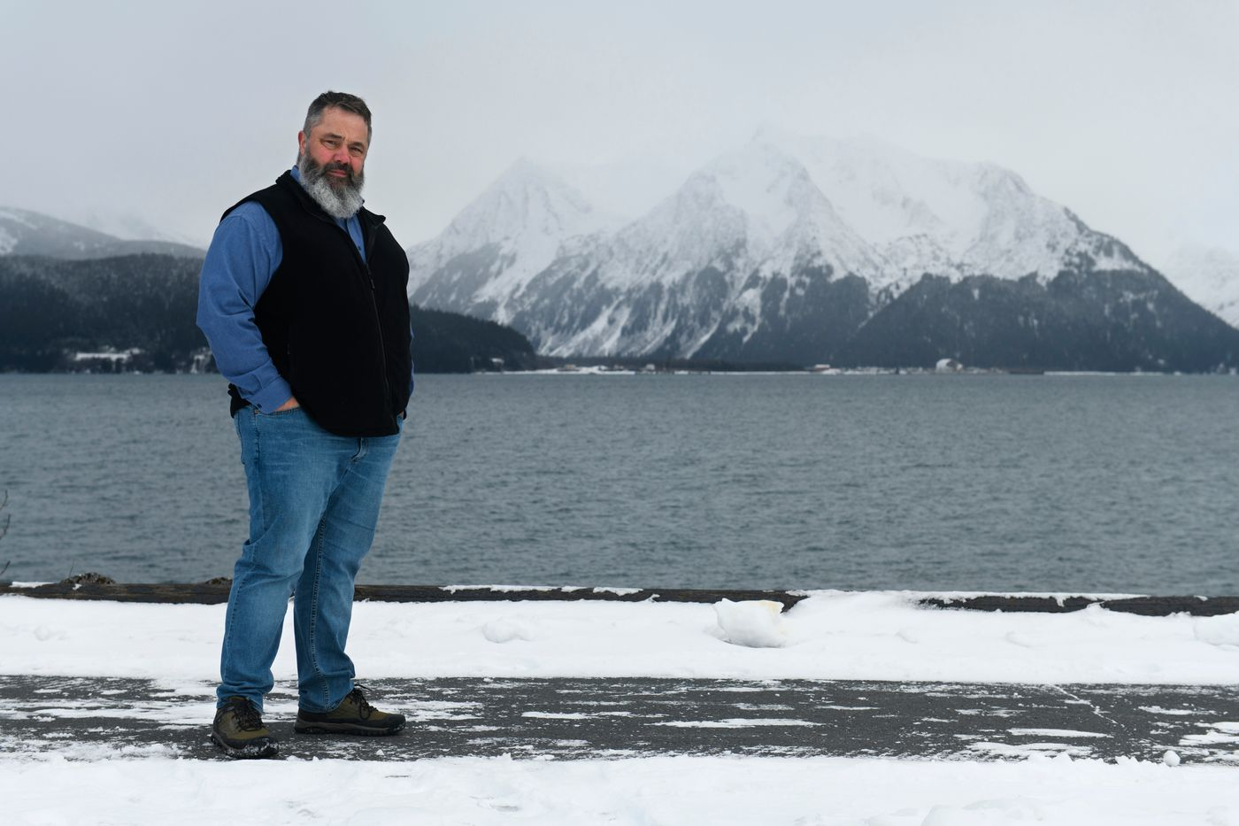 Bill Lapinskas spent 26 years working at Spring Creek Correctional Center, three as its superintendent. He decided to retire in January after receiving orders to roll back a program designed to prepare prisoners for release. Photographed in Seward on Feb. 26, 2020. (Marc Lester / ADN)