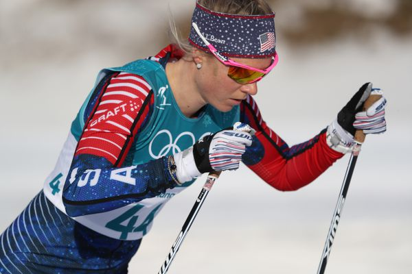 Sadie Bjornsen (USA) competes during the ladies cross country 10km freestyle Pyeongchang 2018 Olympic Winter Games at Alpensia Cross-Country Centre. (Matt Kryger-USA TODAY Sports)