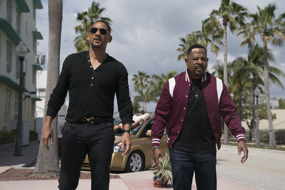 This image released by Sony Pictures shows Martin Lawrence, right, and Will Smith in a scene from 'Bad Boys for Life. ' (Ben Rothstein/Columbia Pictures-Sony via AP)