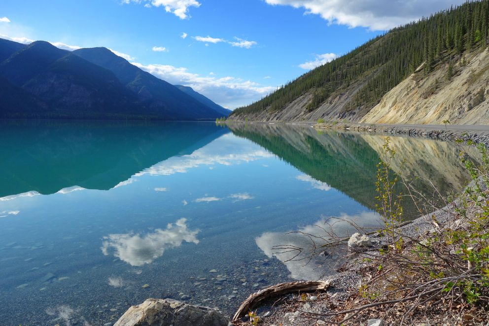 A calm day on Muncho Lake. (Photo by Scott McMurren)