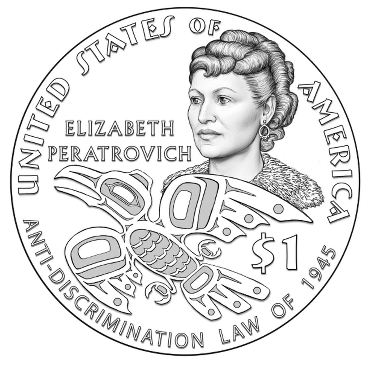 Alaska Native leader Elizabeth Peratrovich commemorated on $1 coin