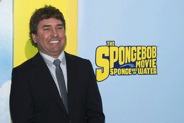FILE - In this Jan. 31, 2015 file photo, SpongeBob SquarePants creator Stephen Hillenburg attends the world premiere of