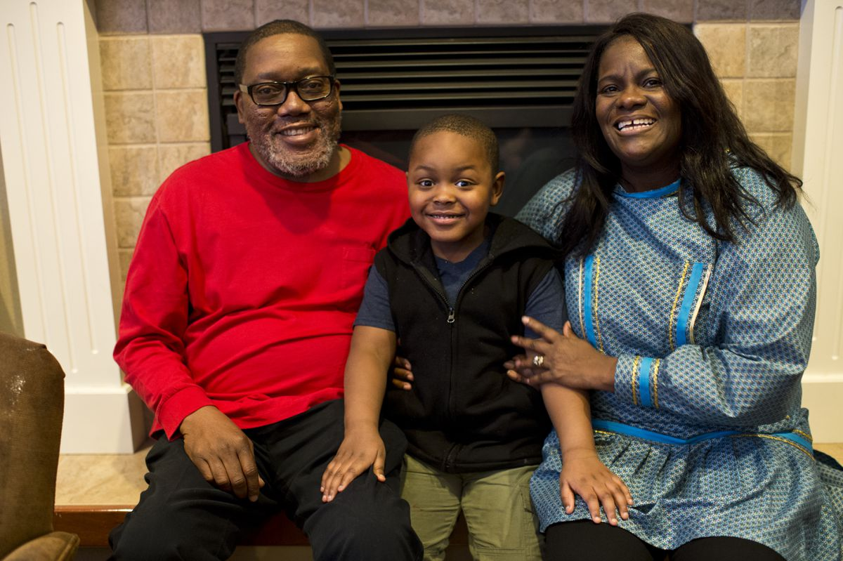 Barry Evans and Stephanie McFadden-Evans have fostered Dominick Evans since he was 5 months old and adopted him this year. (Marc Lester / ADN)