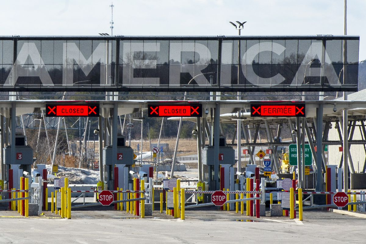The United States border crossing in Lacolle, Quebec. (Ryan Remiorz/The Canadian Press via AP/File)