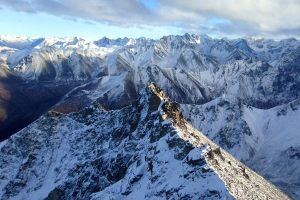 The view from the summit of Matanuska Peak on Saturday, Nov. 12, 2016. (Vicky Ho / Alaska Dispatch News)