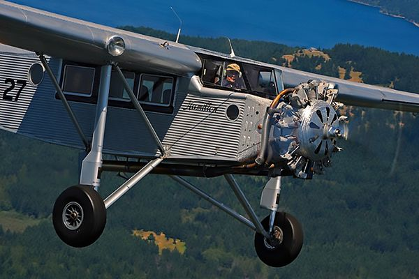 """I was privileged to be able to fly this 1929 Hamilton Metal plane last year (2013),"