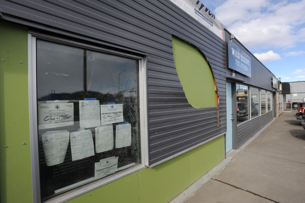 New Alaska Sprouts location under construction in Fairview on April 6. (Bill Roth / Alaska Dispatch News)