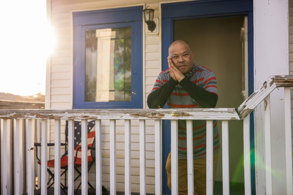 Jeffrey Yoshikawa is a member of the Marshallese community in Spokane, Wash., which is 1% of the county's population but 30% of the coronavirus caseload. He and his mother-in-law were both hospitalized with covid-19. Photo by Rajah Bose for The Washington Post