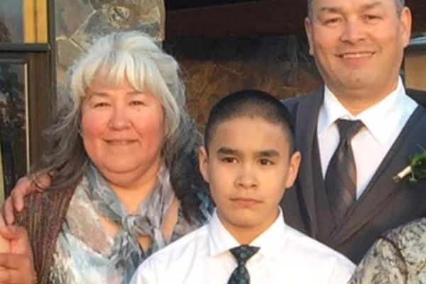Crawford Sue Patkotak with his parents, Crawford and Laura Patkotak, in an undated photo. Crawford Sue Patkotak was stabbed and killed by another family member Wednesday, Oct. 18, 2017, in the North Slope hub city of Utqiaġvik, his father said. Courtesy of Patkotak family.