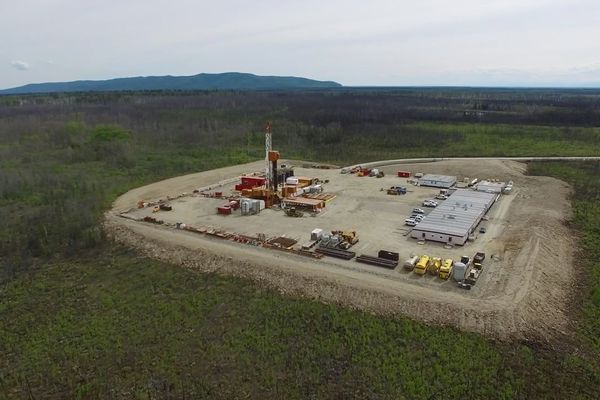 Doyon and CIRI announced in summer 2016 they were forming a business partnership for the drilling of the Toghotthele #1 well. Now, they're drilling a second well. At Toghotthele, drilling began on June 1, 2016, at a site west of Fairbanks. The well did not lead to a profitable discovery but provided information supporting Doyon's continued quest for a large oil and gas find in the Nenana basin. (Photo courtesy of Doyon)