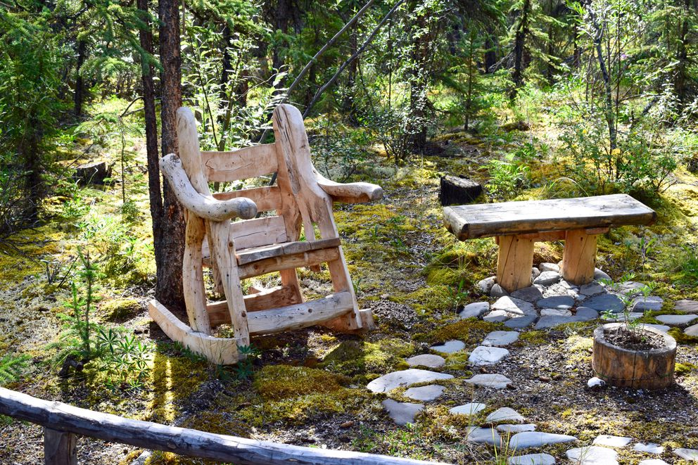 Handcrafted rocking chair left behind at the Kernwood cabin site (Photo from Jean Aspen and Tom Irons)