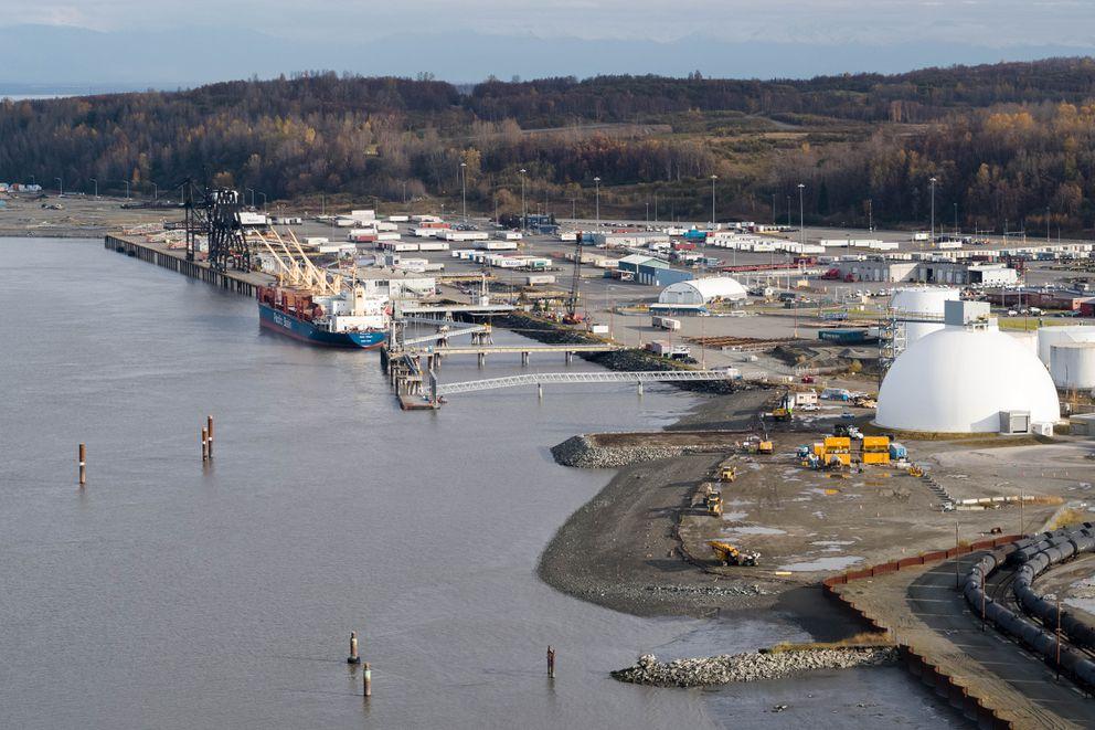 The Port of Alaska on Thursday, Oct. 11, 2018. (Loren Holmes / ADN archive)
