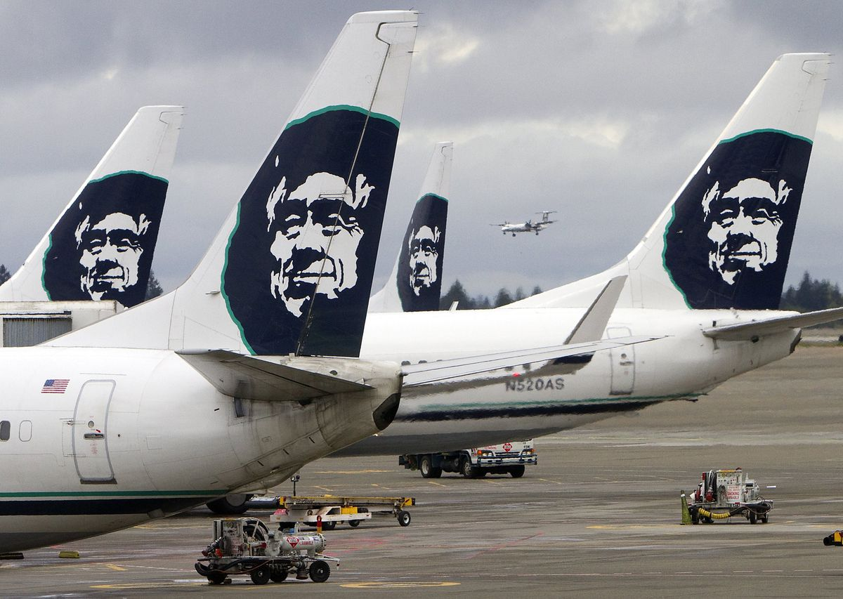 Alaska Airlines jets. (Mike Siegal/Seattle Times/TNS)