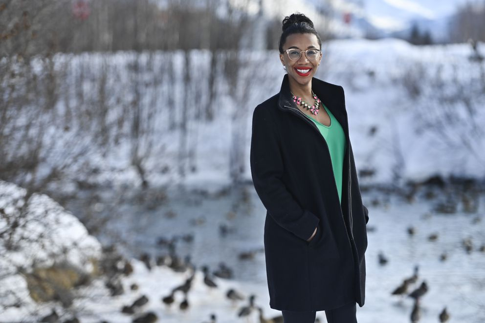 Jocasta Olp serves as Assistant Secretary of the Alaska Black Caucus, and is trained as a clinical pharmacist. She has helped lead community conversations focused on the science behind the new COVID-19 vaccines.(Marc Lester / ADN)