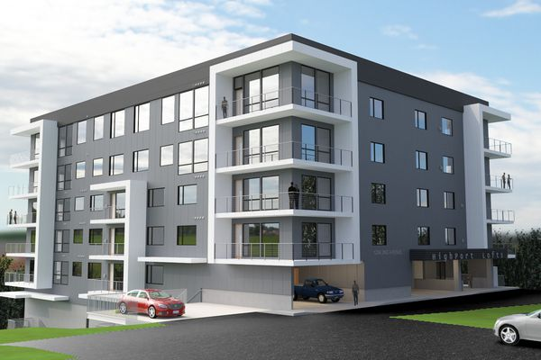 Artist's rendering of the development HighPort Lofts. (Photo illustration by Faulkenberry & Assoc Architects)