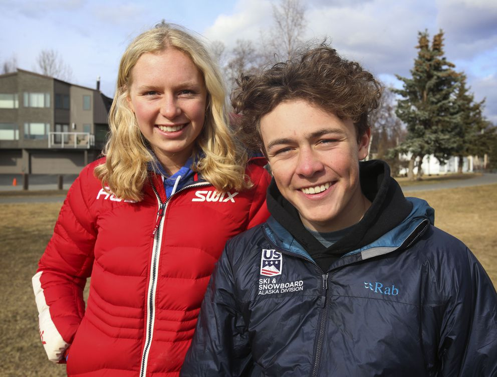 Quincy and Finnigan Donley are both skiers, but Quincy, 18, is a cross-country skier headed to Harvard and Finnigan, 16, is an alpine skier headed to a ski academy in Sun Valley, Idaho. (Emily Mesner / ADN)