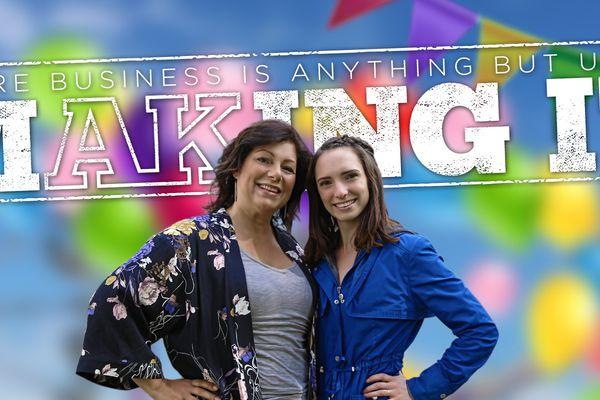 Jacqueline Leavitt and Chelsea Eckert of Golden Wheel Amusements (Josh Genuino / Alaska Dispatch News Creative Services)