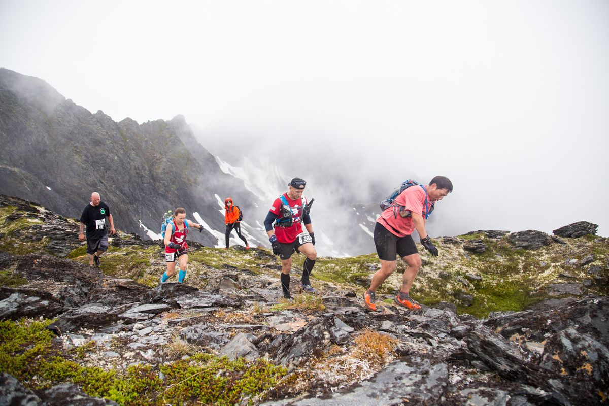 Cirque Series competitors run in the 2017 race at Alyeska. (Photo provided by Discrete Cirque Series)