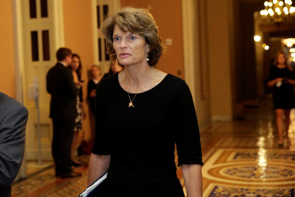 Sen. Lisa Murkowski, R-Alaska, arrives for a Senate health care vote on Capitol Hill in Washington, D.C., on Thursday. REUTERS / Yuri Gripas