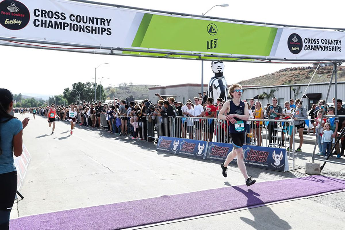 Daniel Bausch, the reigning Alaska Class 4A boys cross-country champion from Chugiak High, finished in eighth place at the Foot Locker west regionals in Walnut, California, on Saturday. He finished the 5K in 15 minutes, 46.4 seconds. (Photo courtesy Foot Locker)