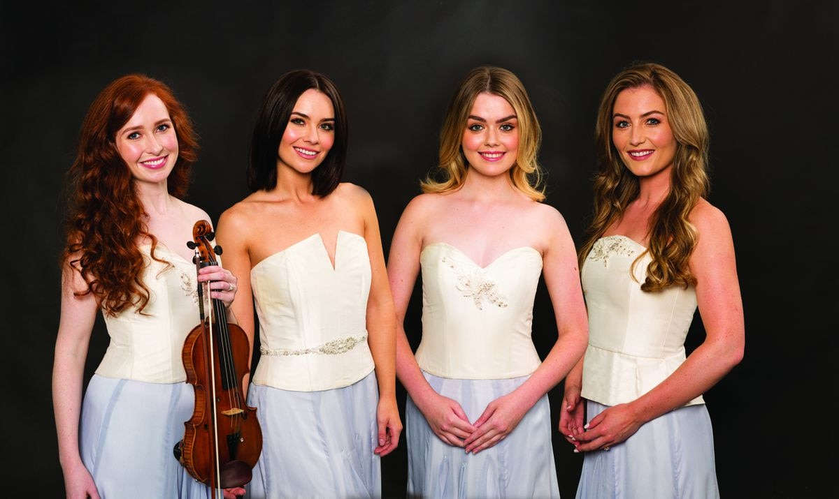 From left: Tara McNeill, Mairead Carlin, Megan Walsh and Eabha McMahon are the members of Celtic Woman. (Photo by Kip Carroll)