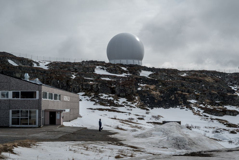 A radar station in Vardo, an island town in Norway's remote northeast which lies near restricted Russian naval bases, May 13, 2017. The secretive American-Norwegian radar facility has provided a much-needed economic lifeline in Vardo, but also spawned fears over health hazards and fatalistic thoughts about the town's fate should Russia and NATO ever enter into direct conflict. (Andrew Testa/The New York Times)