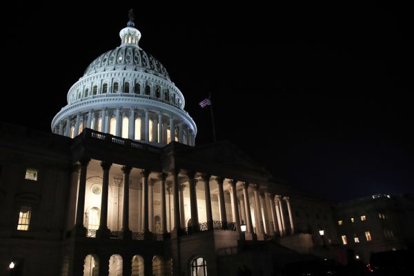 The U.S. Capitol dome is shown, Tuesday, Feb. 5, 2019, after President Donald Trump delivered the State of the Union address before the joint session of Congress. (AP Photo/Manuel Balce Ceneta)