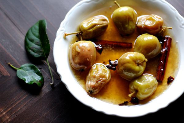 Crabapples simmered in spiced wine (Maya Wilson / Alaska from Scratch)
