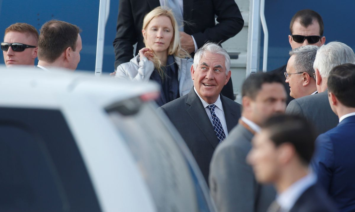Russia's Putin starts meeting with Tillerson in Kremlin