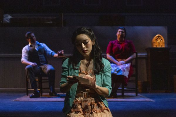 Yeonji Lee as Setsuko Kobayashi in Anchorage Opera's production of