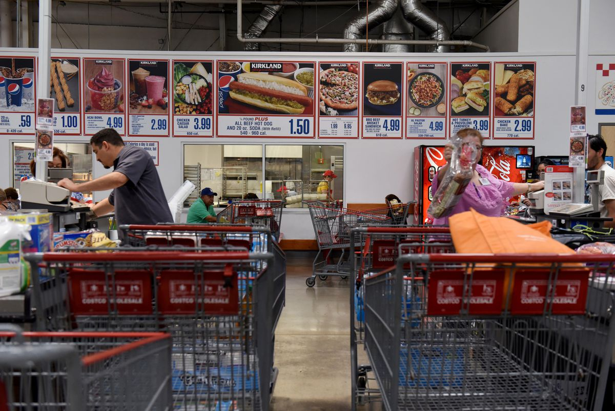 Costco is removing the Polish hot dog from its food court menu. (Bloomberg photo by Callaghan O'Hare)