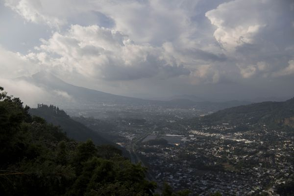 San Salvador, El Salvador is seen from a hill in September 2018. (Washington Post photo by Carolyn Van Houten)