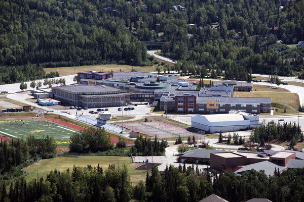 Service High School and Trailside Elementary School viewed on Wednesday, July 20, 2016. (Erik Hill / Alaska Dispatch News)