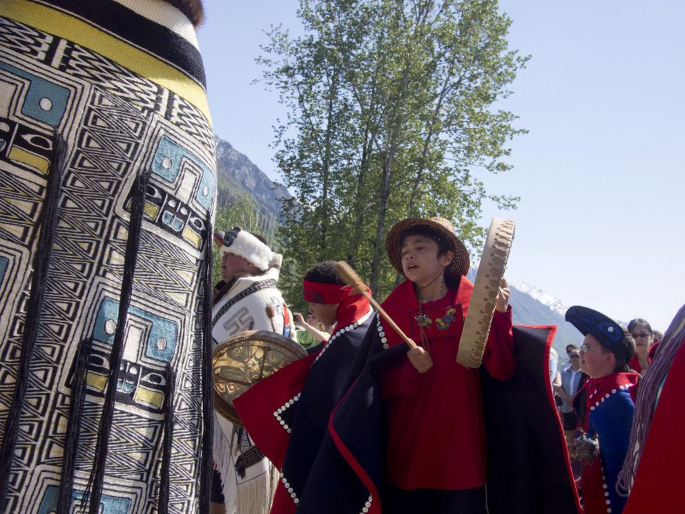 The Jilkaat Kwaan Heritage Center and Bald Eagle Preserve Visitor Center opened in the Tlingit village of Klukwan on May 14, 2016. (John Hagen / hagenphoto.photoshelter.com)