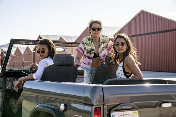 From left: Ella Balinska, Kristen Stewart and Naomi Scott in