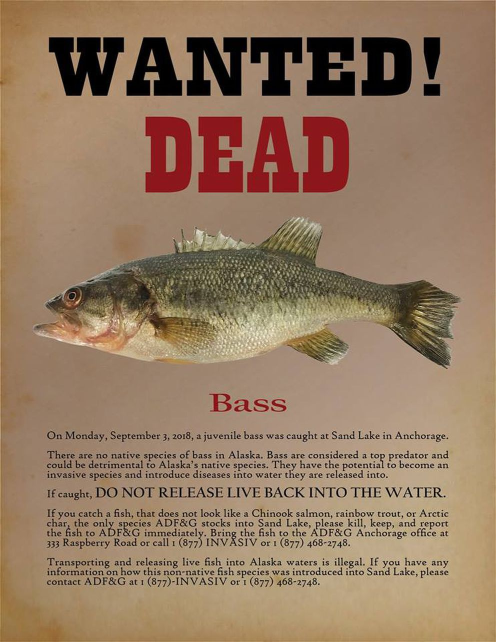 ADF&G's wanted poster.