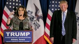 Donald Trump jokes -- awkwardly -- about Todd Palin