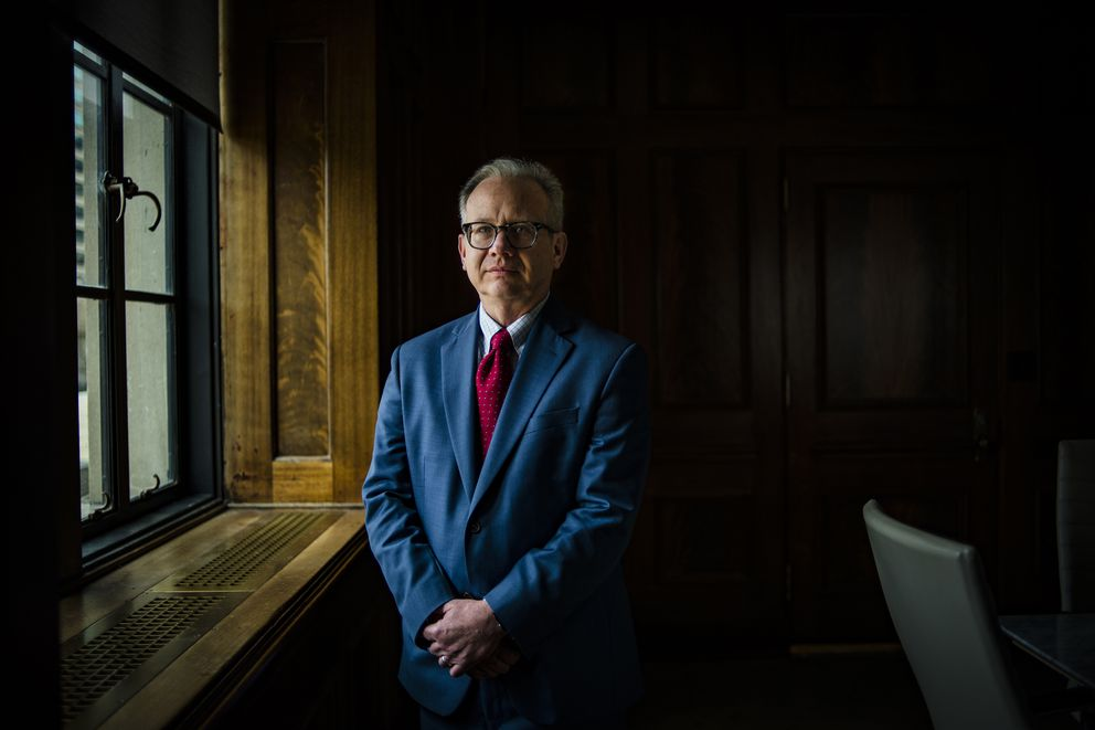 Nashville Mayor David Briley inside his office, in Nashville, Tenn., March 26, 2018. In communities across the country, the billionaire conservative Koch brothers are waging a sophisticated fight against new rail projects and bus routes. (William DeShazer/The New York Times)