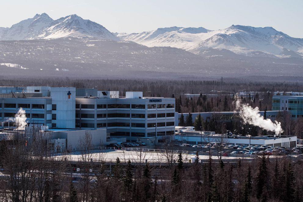The Providence Alaska Medical Center hospital, photographed Tuesday, March 31, 2020. (Loren Holmes / ADN)