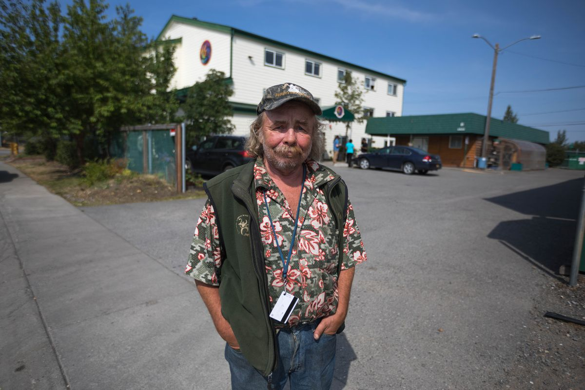 Robert Lindell stands outside his home at Sitka Place on Thursday, July 18, 2019.