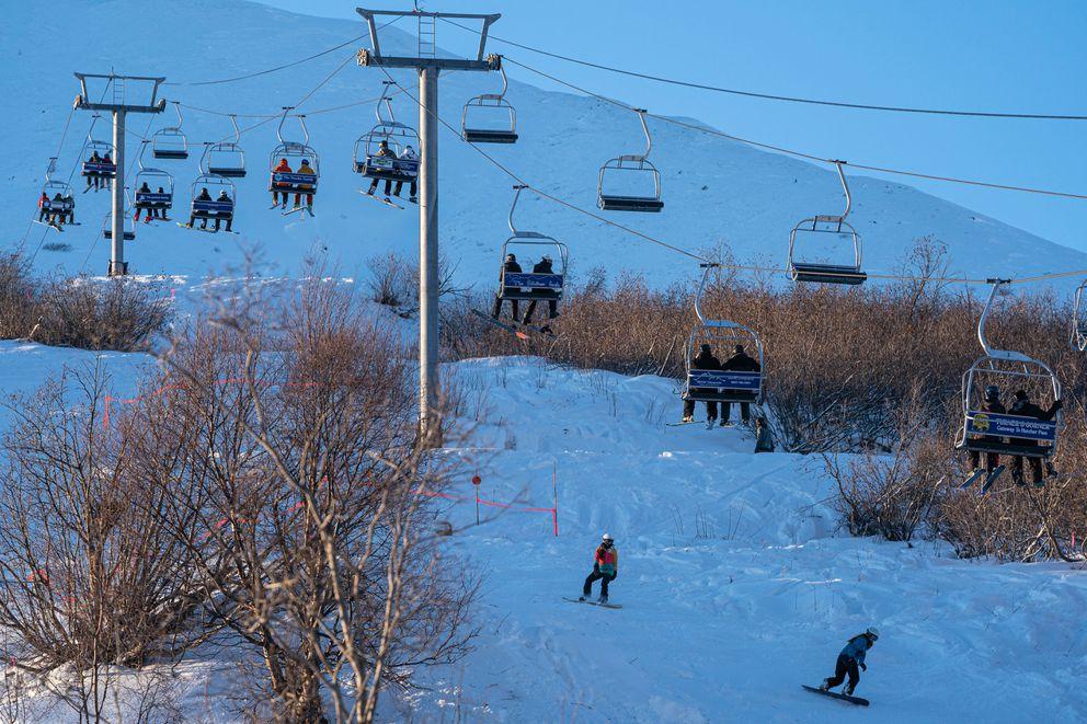 Skeetawk, the new alpine ski resort at Hatcher Pass, opened this winter. (Loren Holmes / ADN)