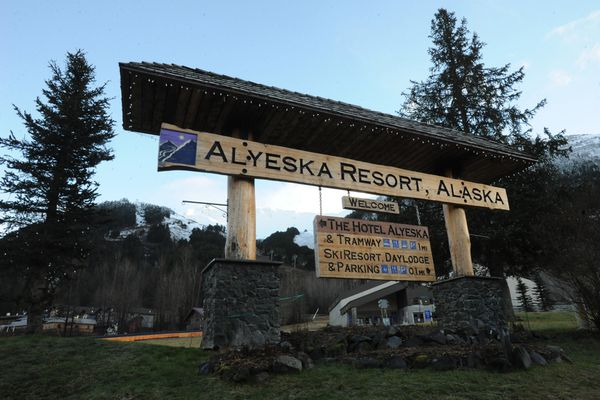 Alyeska Resort announced on Monday, Nov. 24, 2014, that it won't be open for skiing and boarding this Thanksgiving Day weekend because of a lack of snow. (Bill Roth / Alaska Dispatch News)