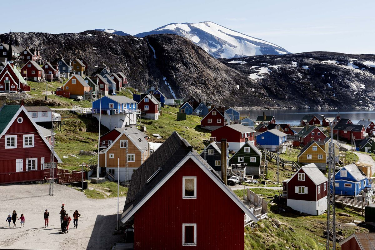 FILE - This July 11, 2015 file photo shows a general view of the town of Upernavik in western Greenland. (Linda Kastrup/Ritzau Scanpix via AP)