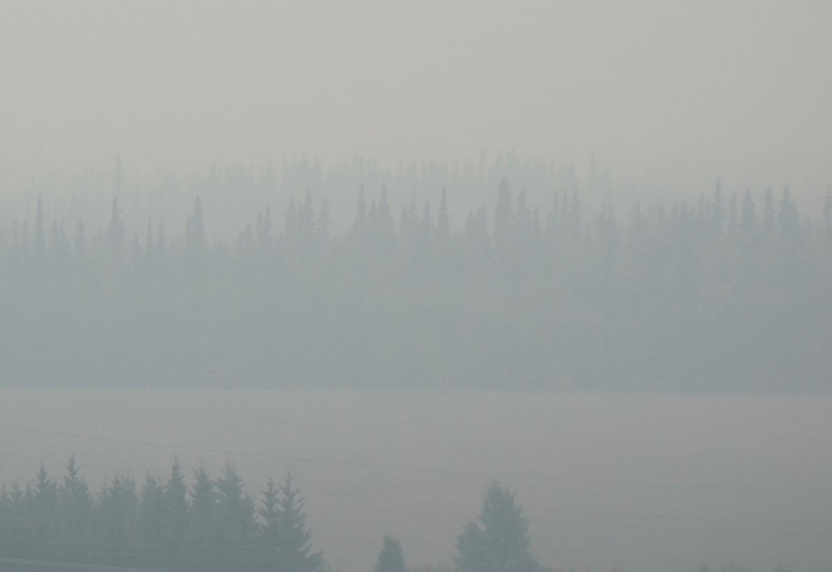 Fairbanks, shown here in July 2019, and other areas of Alaska are smokier, due to a recent increase in summer wildfires. (Ned Rozell)