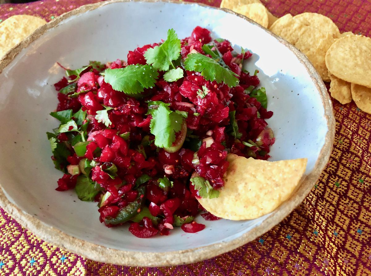 Reign Galovin's cranberry-ginger salsa won the side dish category in our holiday recipe contest. (Photo by: Kim Sunee)