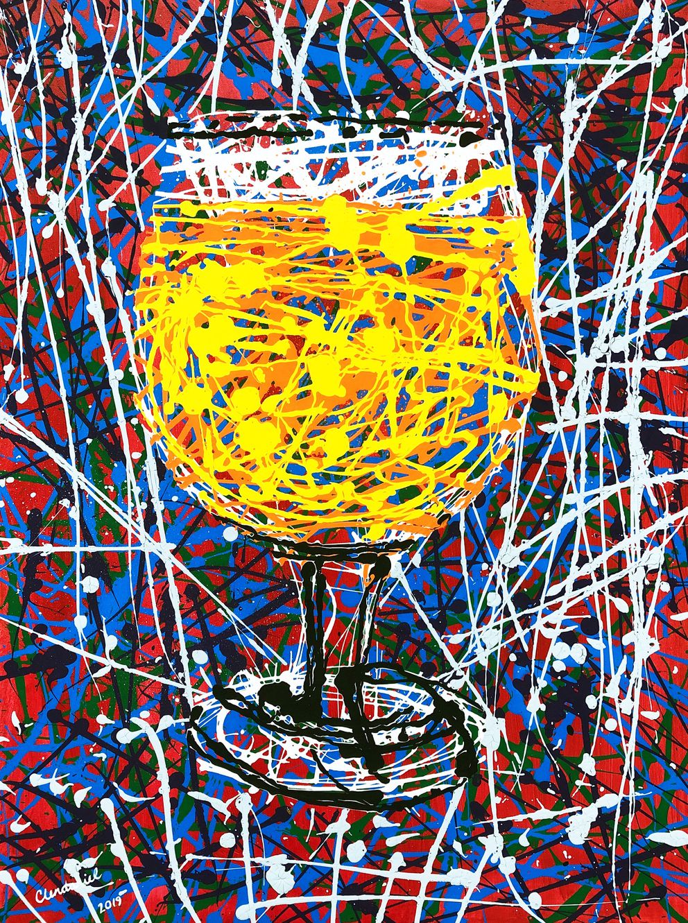 Inspired by Jackson Pollock, but with a beer twist. 30 'x40 ', acrylic on canvas. Join Turnagain Brewing for the art opening on Friday, March 1, 5-8 p.m. The paintings and limited-edition prints will be on display and available for sale at the brewery until April 4.